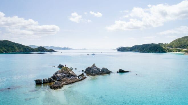 Young Taiwanese sailors explored Okinawa on their Fountaine Pajot Lucia 40