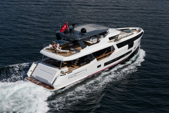 Sirena's flagship 88 designed by German Frers and Cor D Rover