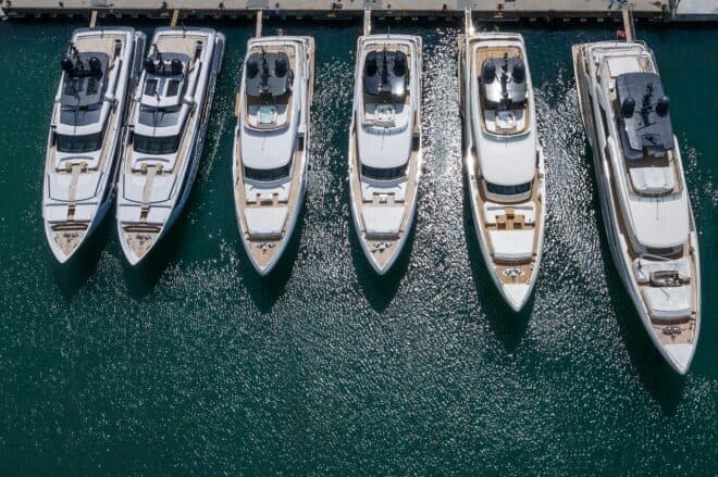Custom Line yachts are built at Ferretti Group's Superyacht Yard in Ancona
