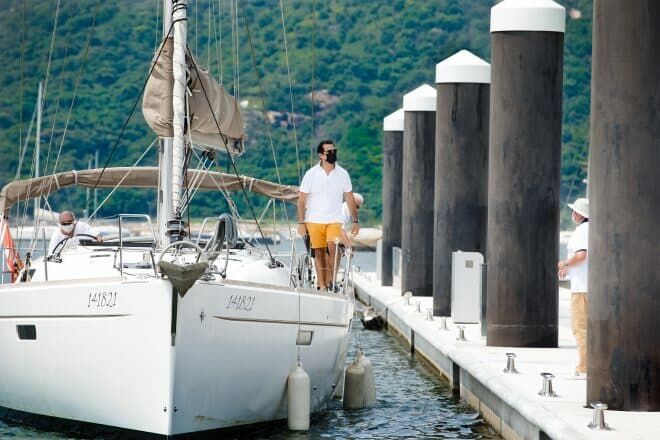 A Jeanneau Sun Odyssey 479 is the first member's boat at Lantau Yacht Club