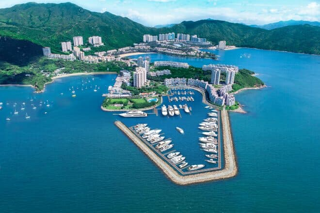 Artist's impression of the 148-berth Lantau Yacht Club and the Discovery Bay residential complex, a 25-minute ferry ride west of Central