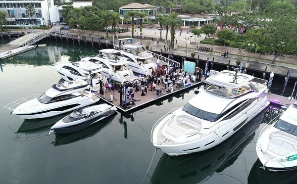 In 2019, Boat Lagoon Yachting showcased Princess models at ONE°15 Marina Sentosa Cove, where the company has its Singapore office