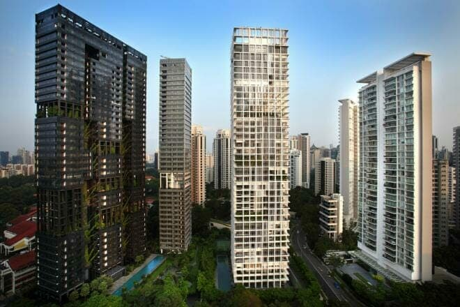 Singapore high-rise building, wealth magnetism