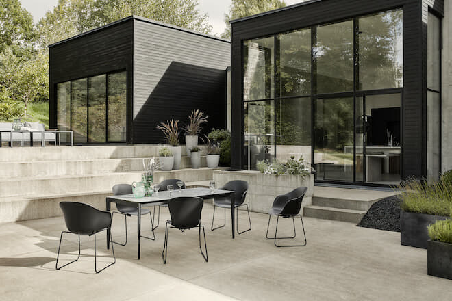 outdoor space with plants, design