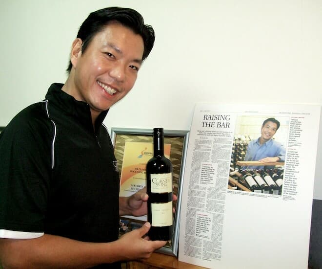 Clinton Ang, Managing Director of CornerStone Wines