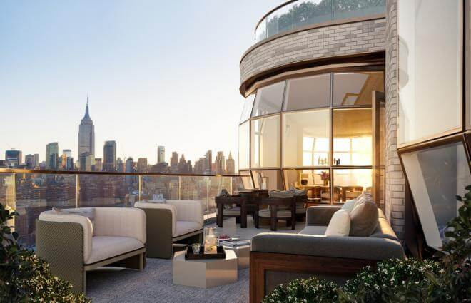 Rooftop deck of Lantern House.