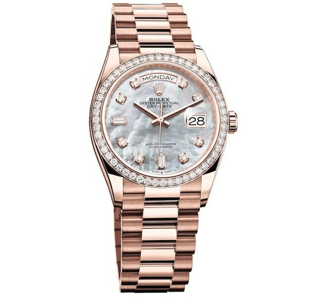 RolexDatejust 31 with mother-of-pearl dial