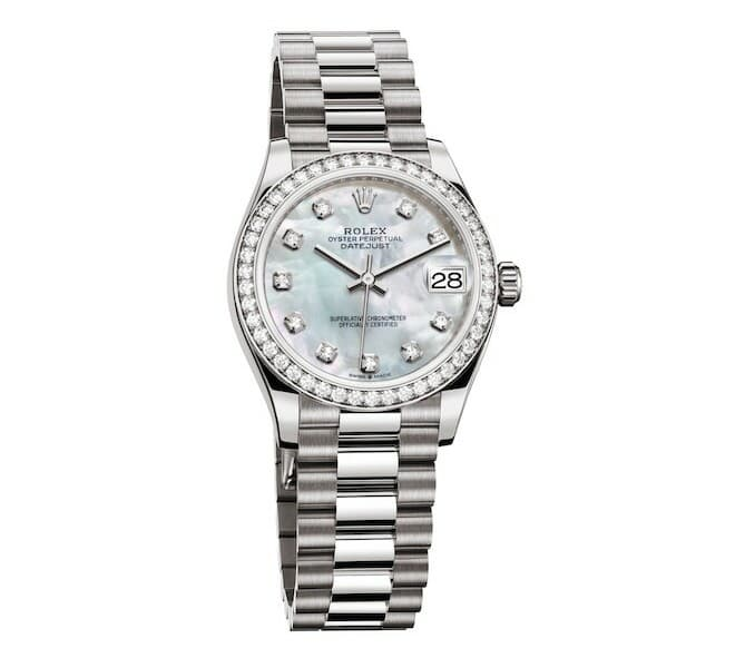 RolexDay-Date 36 with mother-of-pearl dial