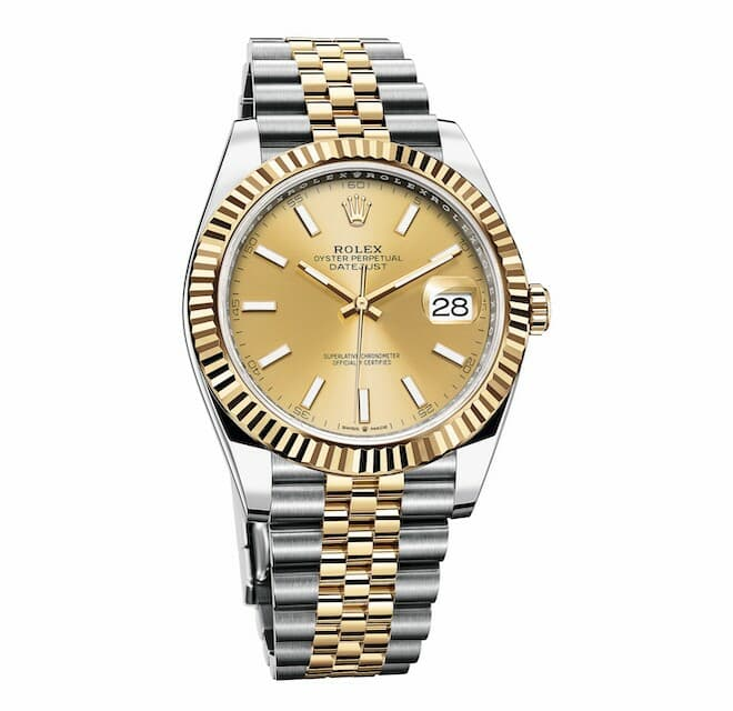 Rolex Oyster Perpetual Datejust 41 in Oystersteel and 18 ct yellow gold, with a Jubilee bracelet
