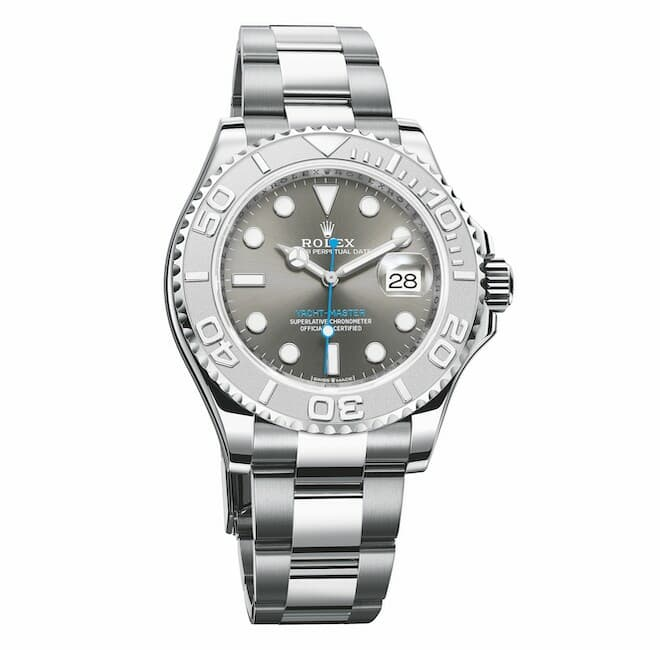 Rolex Oyster Perpetual Yacht-Master 40 in Oystersteel and 950 platinum with slate dial and an Oyster bracelet