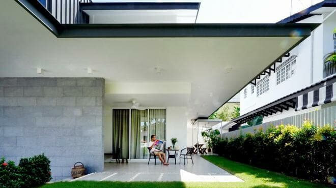 Generous overhangs to shade the homeowners from the elements.