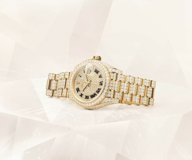 Oyster Perpetual Lady-Datejust, 28 mm, 18 ct yellow gold
