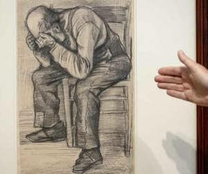 van gogh new drawing study for worn out